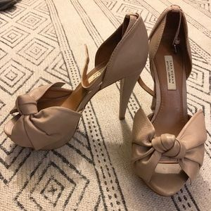 Zara leather peep toes